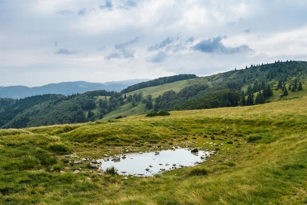 Schöne landschaft der ukrainischen karpaten. Kostenlose Fotos