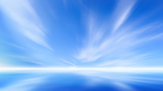Schöner blauer himmel mit wolke auf natürlichem hintergrund des sees. Premium Fotos