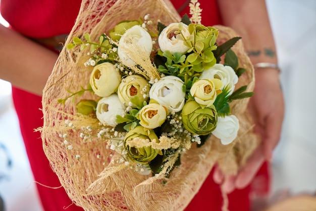Schöner brautblumenstrauß Premium Fotos