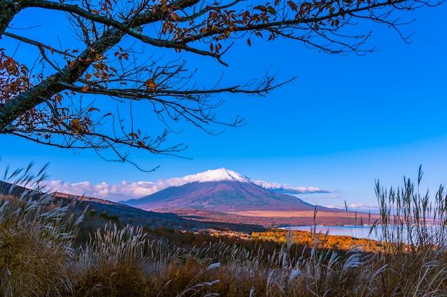 Schöner fuji-berg im yamanakako oder im yamanaka see Kostenlose Fotos