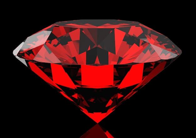 Schöner roter rubin auf einem dunklen Premium Fotos