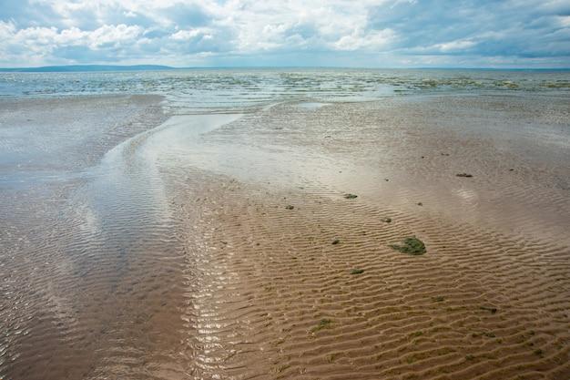 Schöner seesommer oder frühlingsauszug. goldener sandstrand Premium Fotos