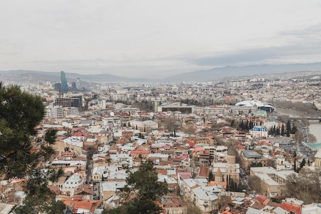 Schöner standpunkt von tiflis-stadt, georgia Premium Fotos
