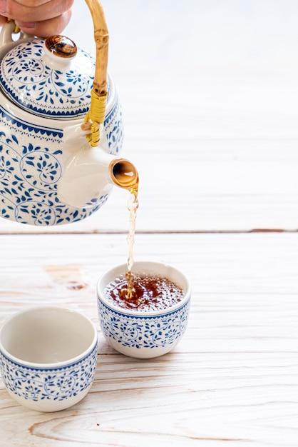 Schönes chinesisches tee-set Premium Fotos