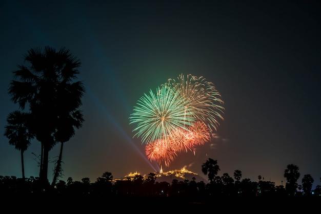 Schönes feuerwerk am himmel Premium Fotos