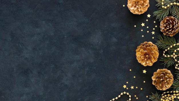 Schönes heiligabendkonzept mit kopierraum Kostenlose Fotos