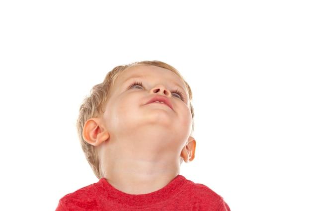 Schönes kleines kind zwei jahre alt, lachen Premium Fotos