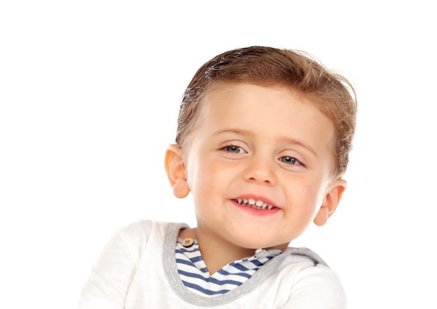 Schönes kleines kind zwei jahre alt mit dem blonden haar Premium Fotos