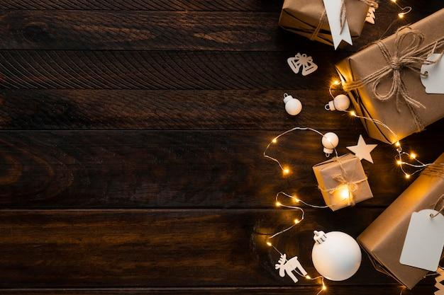 Schönes weihnachtskonzept mit kopierraum Kostenlose Fotos