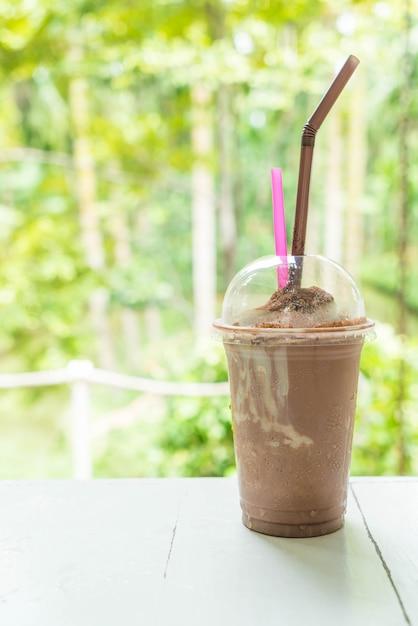 Schokoladen-smoothies (milchshake) Premium Fotos