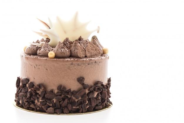 Schokoladenkuchen lokalisiert auf weißem hintergrund Kostenlose Fotos