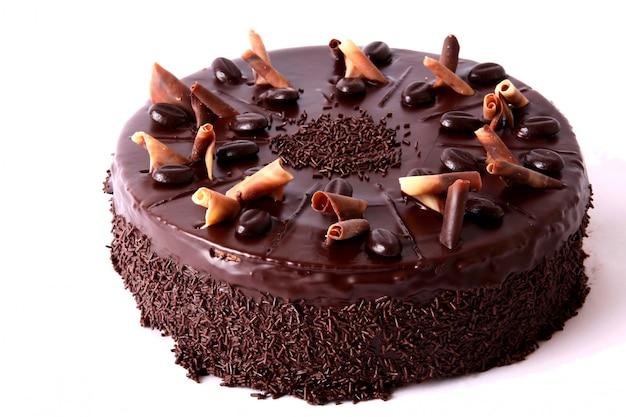 Schokoladenkuchen mit getrockneten früchten Kostenlose Fotos