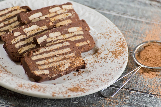 Schokoladenkuchen Premium Fotos