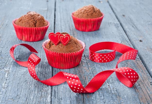 Schokoladenmuffins Premium Fotos