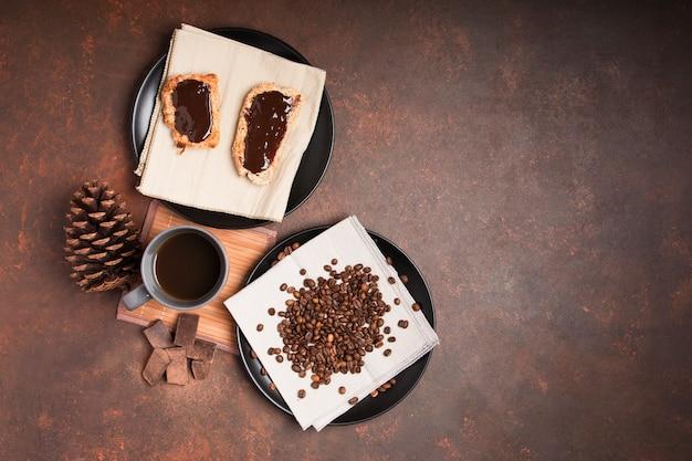 Schokoladennachtisch mit kopienraum Kostenlose Fotos