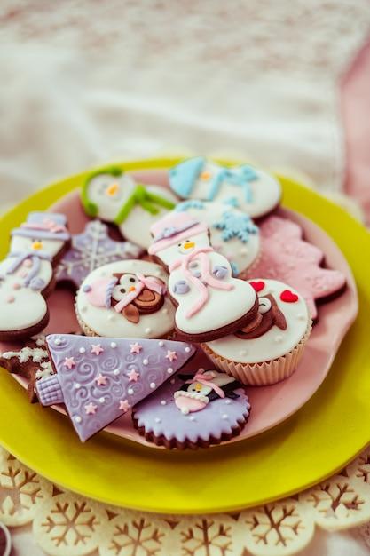 Schone Urlaub Leckere Kuchen Auf Dem Tisch Close Up Download Der
