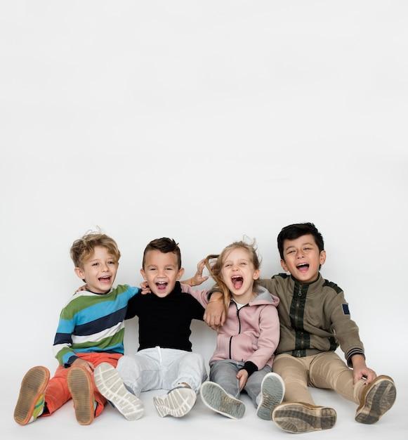 Schooler frinds glück cute spielerisch Premium Fotos