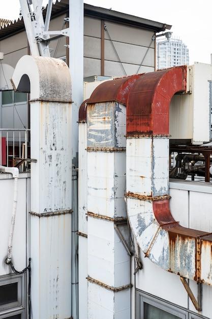 Schornsteinform der metallindustrie Kostenlose Fotos
