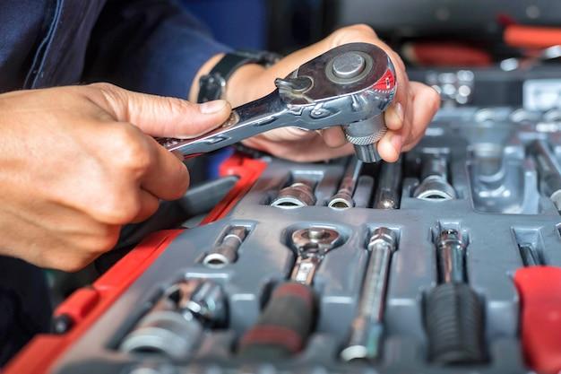 Schraubenschlüssel-set blog-tool Premium Fotos