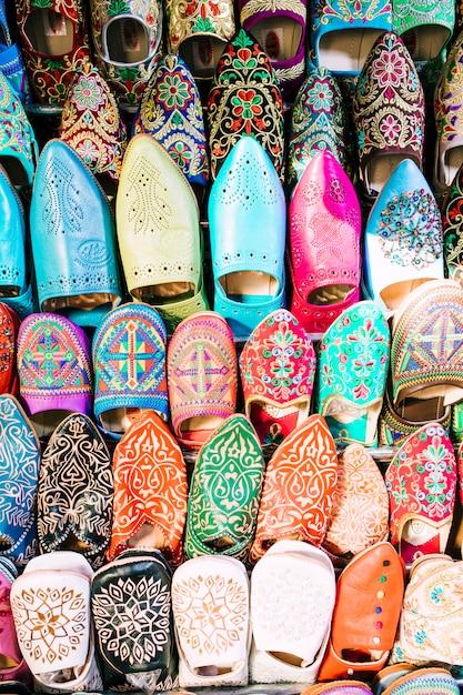 Schuhe auf dem markt in marokko Kostenlose Fotos