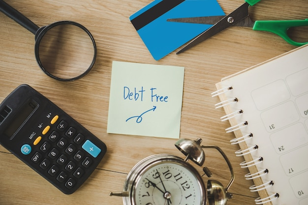 Schulden frei von kreditkarte Premium Fotos