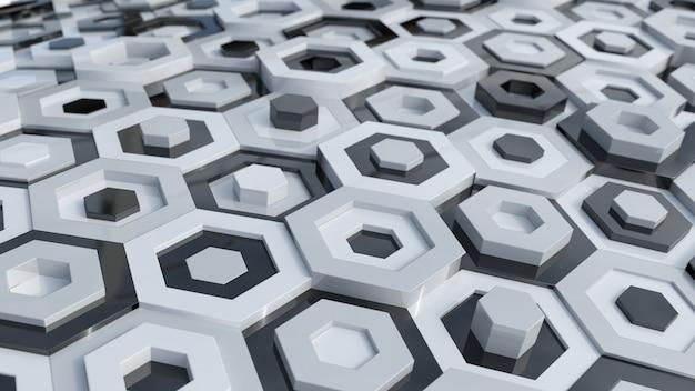 Schwarz-weiß-hexagone Kostenlose Fotos