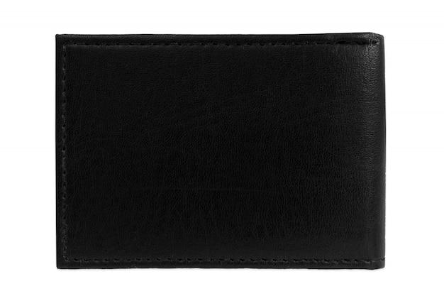 Schwarze geldbeuteltasche, weißes hintergrundmodell lokalisiert Premium Fotos