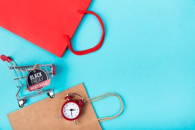 Schwarzer bester verkaufswarenkorb freitags mit taschen Kostenlose Fotos