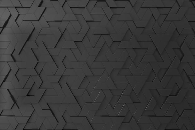 Schwarzer dreidimensionaler hintergrund Premium Fotos
