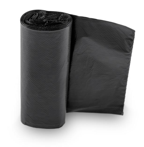 Schwarzer plastikmüll aus polyethylen Premium Fotos