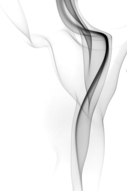 Schwarzer rauchauszug auf weißem hintergrund Premium Fotos