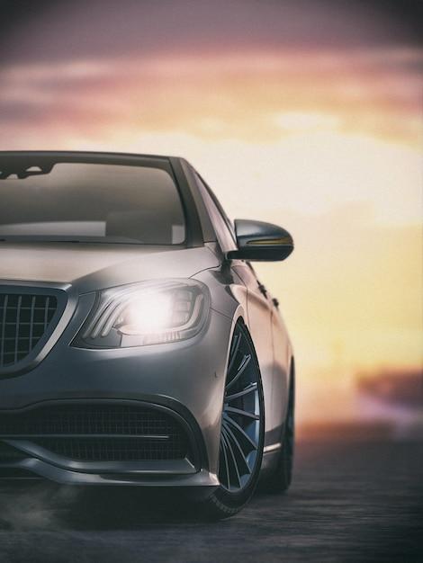Schwarzer sportwagen Premium Fotos