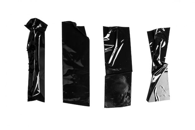 Schwarzes elektrisches band getrennt auf weiß Premium Fotos