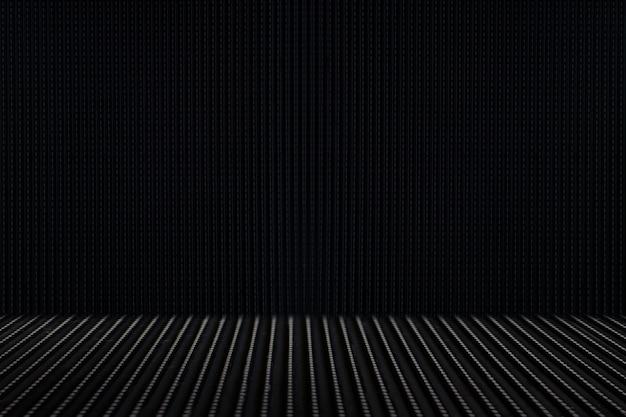 Schwarzes metall, eisen, strukturierter hintergrund des stahlbodens Premium Fotos