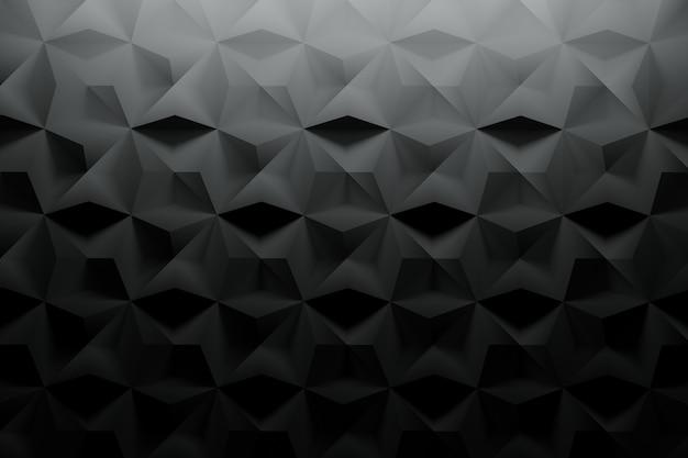 Schwarzes muster mit strukturierter oberfläche und zufälligen fliesen Premium Fotos