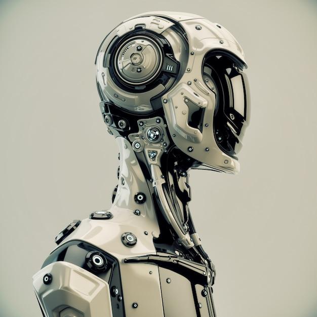 Science-fiction-roboter charakter Premium Fotos
