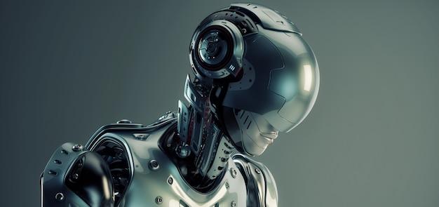 Science-fiction-robotermann Premium Fotos