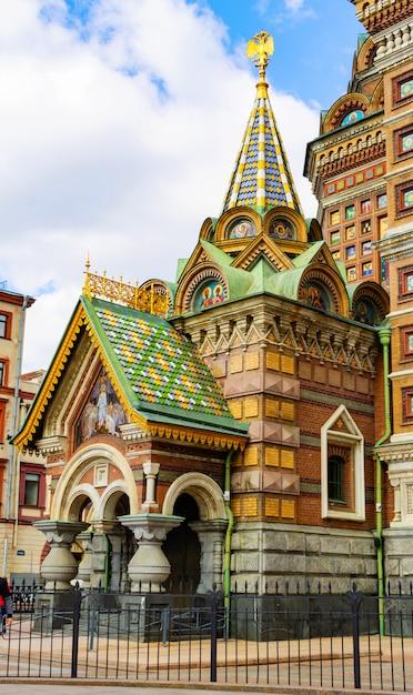 Seitenkapelle der auferstehungskirche in russland. Premium Fotos