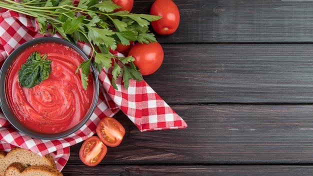 Selbst gemachter tomatencremesuppenkopierraum Kostenlose Fotos