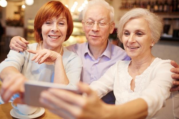 Selfie von senioren Kostenlose Fotos