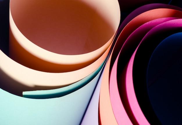 Set aus farbigem karton Premium Fotos