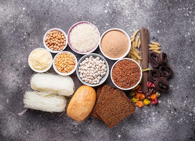 Set glutenfreie produkte Premium Fotos