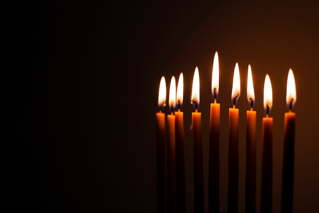 Set heilige brennende kerzen Kostenlose Fotos