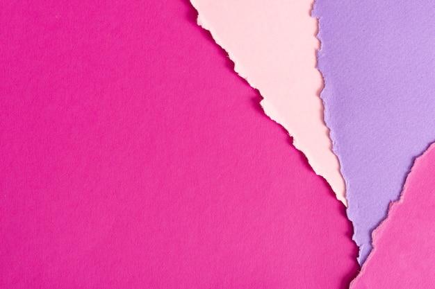 Set rosafarbene papierblätter Kostenlose Fotos