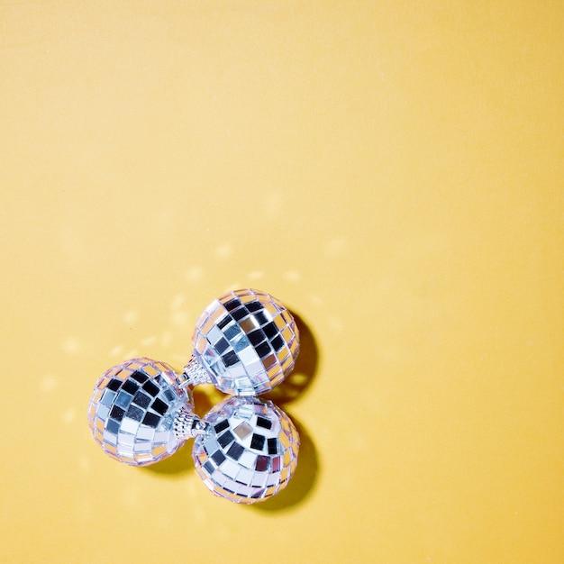 Set silberne flitter der verzierung Kostenlose Fotos