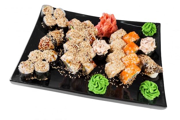 Set sushi und rollen Premium Fotos