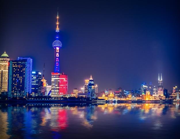 Shanghai in der nacht, china Kostenlose Fotos