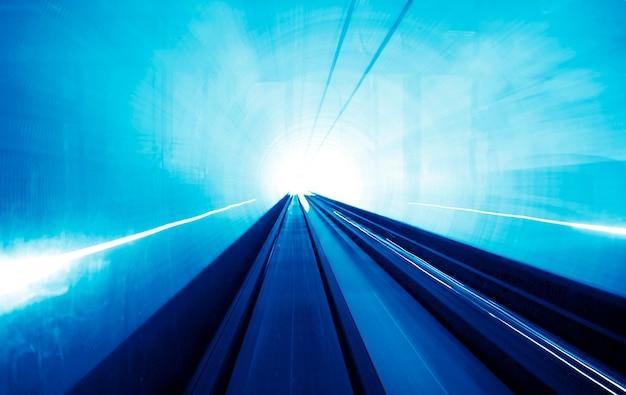 Shanghai light display tunnel Premium Fotos