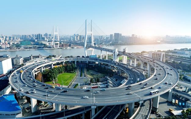Shanghai nanpu brücke Premium Fotos