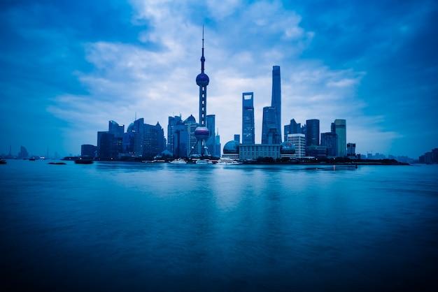 Shanghai skyline panorama Kostenlose Fotos